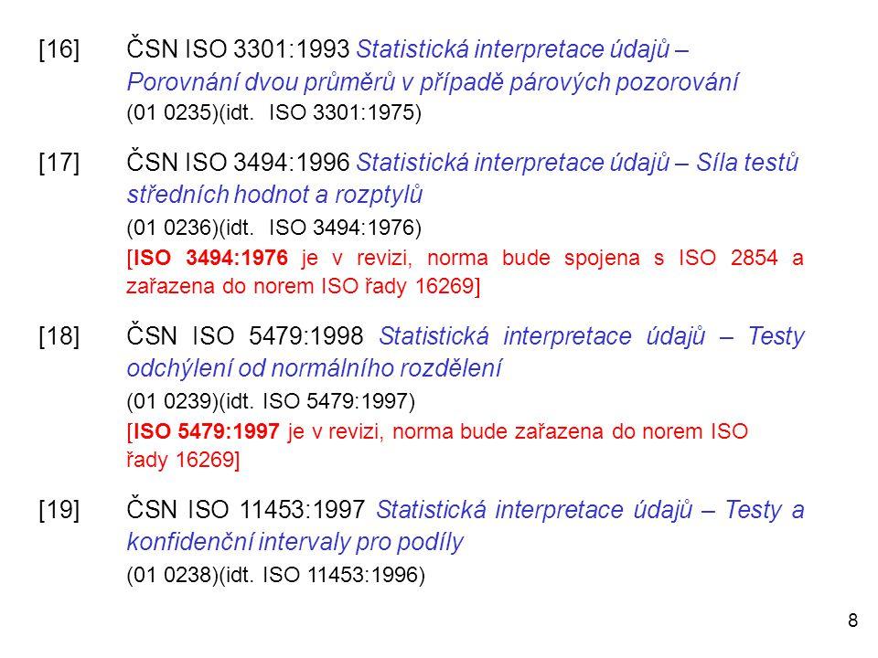 [16]. ČSN ISO 3301:1993 Statistická interpretace údajů –